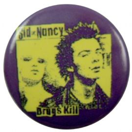 Sex Pistols - 'Drugs Kill' Button Badge